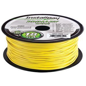 Install Bay PWYL18500 18-Gauge Primary Wire