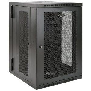 Tripp Lite SRW18US SmartRack 18U Low-Profile Switch-Depth Wall-Mount Rack Enclosure Cabinet