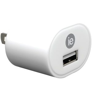 iEssentials IEN-ACPUSB-WT 1-Amp USB Wall Charger (White)