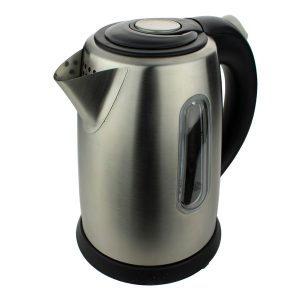 Brentwood Appliances KT-1710S 1-Liter Stainless Steel Cordless Electric Kettle (Silver)