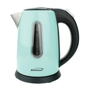 Brentwood Appliances KT-1710BL 1-Liter Stainless Steel Cordless Electric Kettle (Blue)