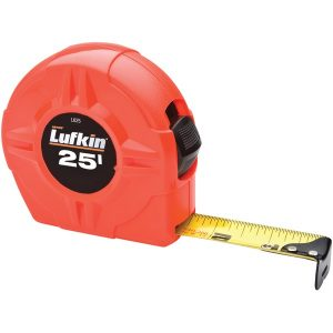 "Lufkin L625 1"" x 25ft Hi-Viz Orange Power-Return Tape Measure"