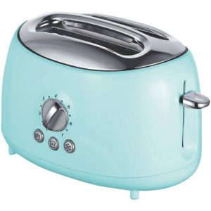 Brentwood Appliances TS-270BL Cool-Touch 2-Slice Retro Toaster with Extra-Wide Slots (Blue)