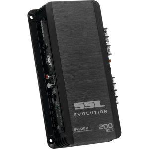 Sound Storm Laboratories EV200.2 EVOLUTION Series Full-Range 200-Watt 2-Channel MOSFET Class AB Amp (Black)