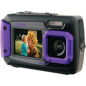 Coleman 2V9WP-P 20.0-Megapixel Duo2 Dual-Screen Waterproof Digital Camera (Purple)