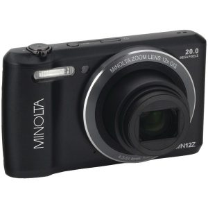 Minolta MN12Z-BK 20.0-Megapixel HD Wi-Fi Digital Camera (Black)