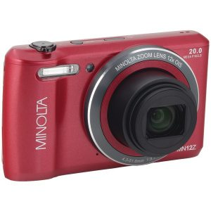 Minolta MN12Z-R 20.0-Megapixel HD Wi-Fi Digital Camera (Red)