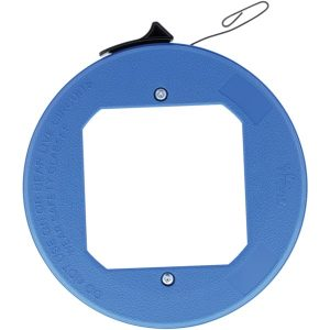 IDEAL 31-012 Blued-Steel Fish Tape with Formed Hook and Thumb Winder Case
