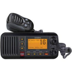 Uniden UM385BK 25-Watt Fixed-Mount Marine Radio with DSC (Black)