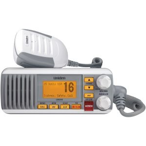 Uniden UM385 25-Watt Fixed-Mount Marine Radio with DSC (White)