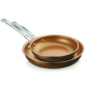 Brentwood Appliances BFP-2810C 2-Piece Nonstick Induction-Compatible Copper Fry Pan Set