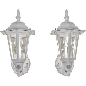 MAXSA Innovations 49719-2PACK Battery-Powered Motion-Activated Plastic LED Wall Sconce