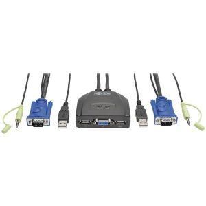 Tripp Lite B032-VUA2 2-Port USB/VGA Cable KVM Switch