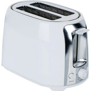 Brentwood Appliances TS-292W 2-Slice Cool-Touch Toaster with Extra-Wide Slots (White and Stainless Steel)