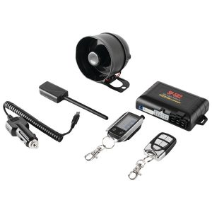 CrimeStopper SP-502 Universal Deluxe 2-Way LCD Security & Remote-Start Combo