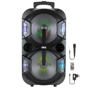 QFX PBX-210 2 x 10-Inch Portable Party Sound System