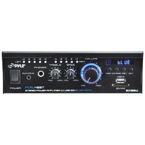 Pyle Home PCAU48BT 120-Watt x 2 Mini Blue Series Bluetooth Stereo Power Amp