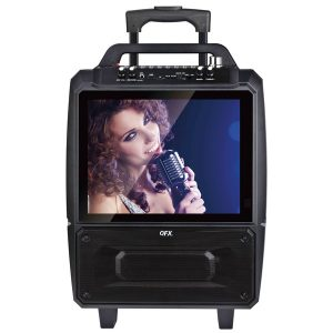 QFX KAR-812 Portable Karaoke Speaker System with Bluetooth