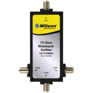 Wilson Electronics 859994 75ohm -4.8dB Splitter with F-Female Connectors