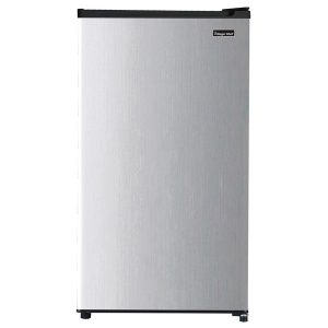 Magic Chef MCAR320PSE 3.2 Cubic-Ft Compact Refrigerator (Silver)