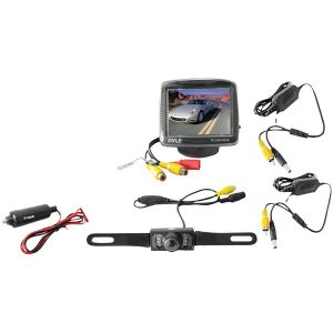 "Pyle PLCM34WIR 3.5"" Wireless Backup Camera & Monitor System with Night Vision"
