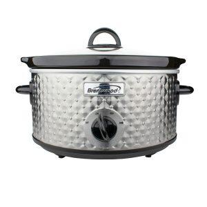 Brentwood Appliances SC-136S 3.5-Quart Diamond-Pattern Slow Cooker (Silver)