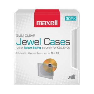 Maxell 190159 Clear Jewel Cases
