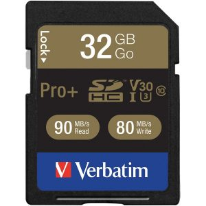 Verbatim 49196 Class 10 32GB Pro Plus 600X SDHC Memory Card