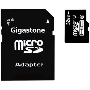 Gigastone GS-2IN1600X32GB-R Prime Series microSD Card with Adapter (32 GB)