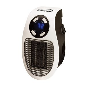 Brentwood Appliances H-C350W 350-Watt Plug-In Wall Outlet Personal Space Heater