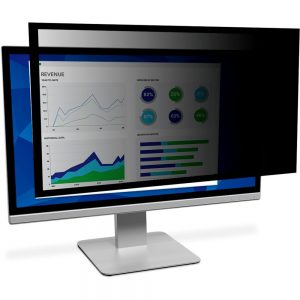 3M Framed Privacy Filter Black - For 27 Widescreen Monitor - 16:9
