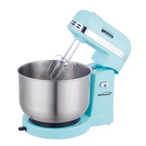 Brentwood Appliances SM-1162BL 5-Speed Stand Mixer with 3-Quart Stainless Steel Mixing Bowl (Blue)