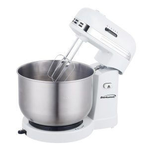 Brentwood Appliances SM-1162W 5-Speed Stand Mixer with 3-Quart Stainless Steel Mixing Bowl (White)