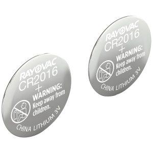 RAYOVAC KECR2016-2A 3-Volt Lithium Keyless Entry Battery (2 pk; CR2016 Size)