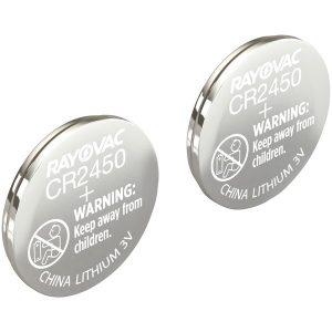 RAYOVAC KECR2450-2A 3-Volt Lithium Keyless Entry Battery (2 pk; CR2450 Size)