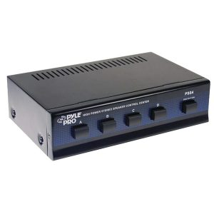 Pyle PSS4 High-Power Stereo Speaker Selector (4 Channels)