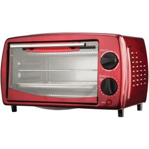 Brentwood Appliances TS-345R 4-Slice Toaster Oven and Broiler (Red)