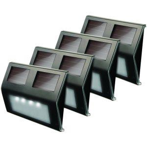 MAXSA Innovations 47334-BZ Solar LED Deck Light