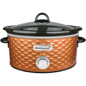 Brentwood Appliances SC-140C 4.5-Quart Scallop Pattern Slow Cooker (Copper)