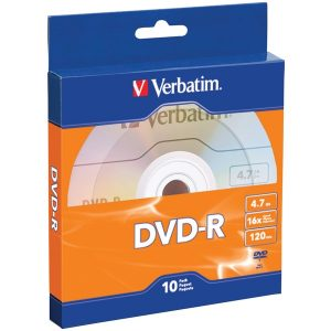 Verbatim 97957 4.7GB 120-Minute 16x DVD-Rs with Branded Surface