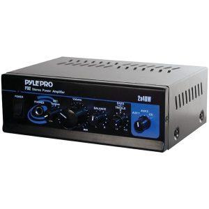 Pyle Pro PTA2 40 Watts x 2 Mini Stereo Power Amp