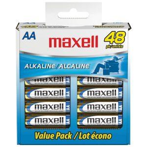 Maxell 723443 - LR648B Alkaline Batteries (AA; 48 pk; Box)