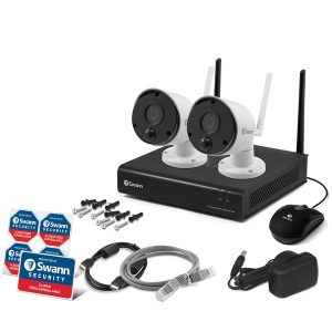 Swann SWNVK-490KH2-US 490 Series 1080p Wi-Fi Surveillance System Kit with 1 TB NVR and 2 Cameras