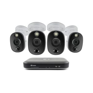 Swann SWDVK-455804WL-US 4K Surveillance System Kit with 4-Channel 1 TB DVR and Four 4K Cameras