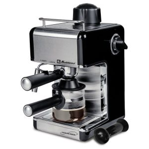 Koblenz CKM-650 EIN 4-Cup Kitchen Magic Collection Espresso and Cappuccino Maker