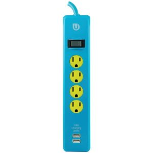 Uber 25117 4-Outlet Power Strip with 2 USB Ports