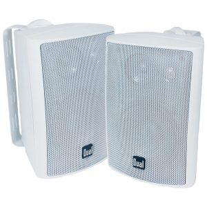 """Dual LU47PW 4"""" 3-Way Indoor/Outdoor Speakers (White)"""
