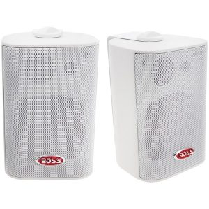 "BOSS Audio Systems MR4.3W 4"" 200-Watt Indoor/Outdoor 3-Way Speakers (White)"