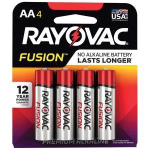 RAYOVAC 815-4TFUSK FUSION Advanced Alkaline AA Batteries