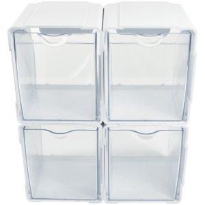 Deflecto 421103CR Tilt Bin Interlocking Storage Organizer